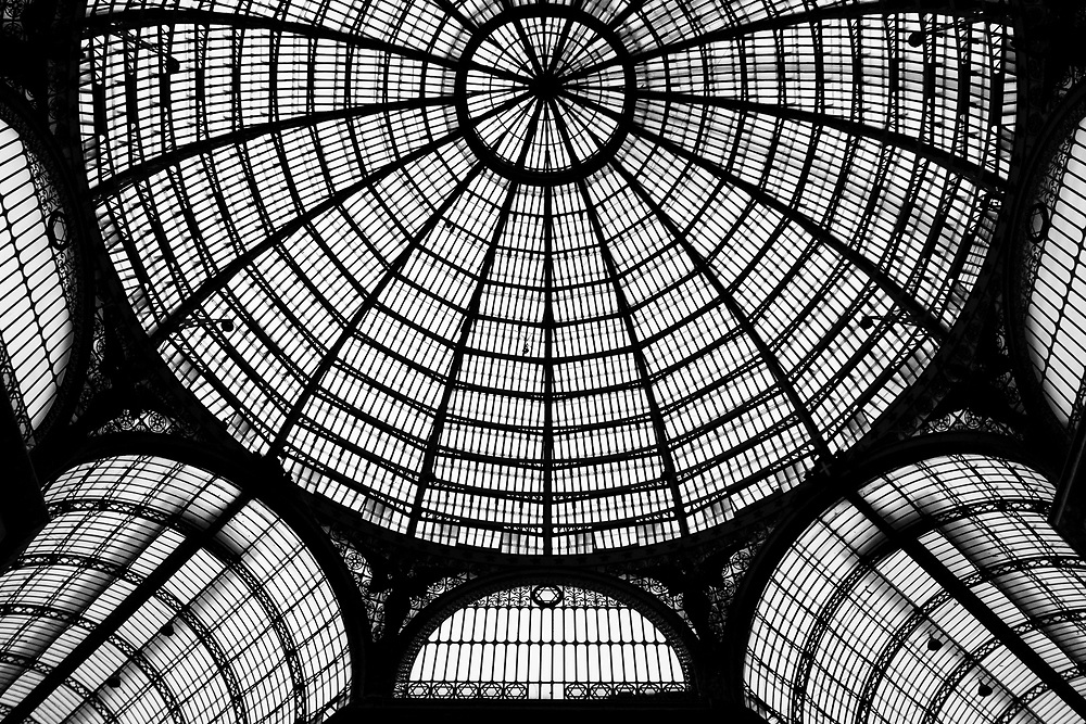 The roof of Umberto primo gallery in Naples, Italy