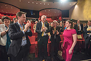 © Licensed to London News Pictures. 14/03/2015. Liverpool, UK.  Nick Clegg, Vince Cable applaud JO Swinson after she delivers her keynote speech.  The Liberal Democrat Spring Conference in Liverpool 14th March 2015. Photo credit : Stephen Simpson/LNP