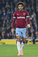 West Ham United midfielder Felipe Anderson (8) during the Premier League match between Brighton and Hove Albion and West Ham United at the American Express Community Stadium, Brighton and Hove, England on 5 October 2018.
