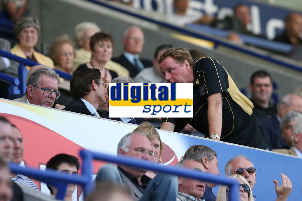Photo: Pete Lorence.<br />Leicester City v Portsmouth. Pre Season Friendly. 04/08/2007.<br />Harry Redknap chats with Milan Mandaric during the match.