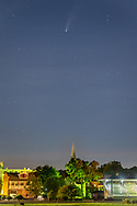 Comet Neowise over Historic Track in Goshen, N.Y., on July 20, 2020.