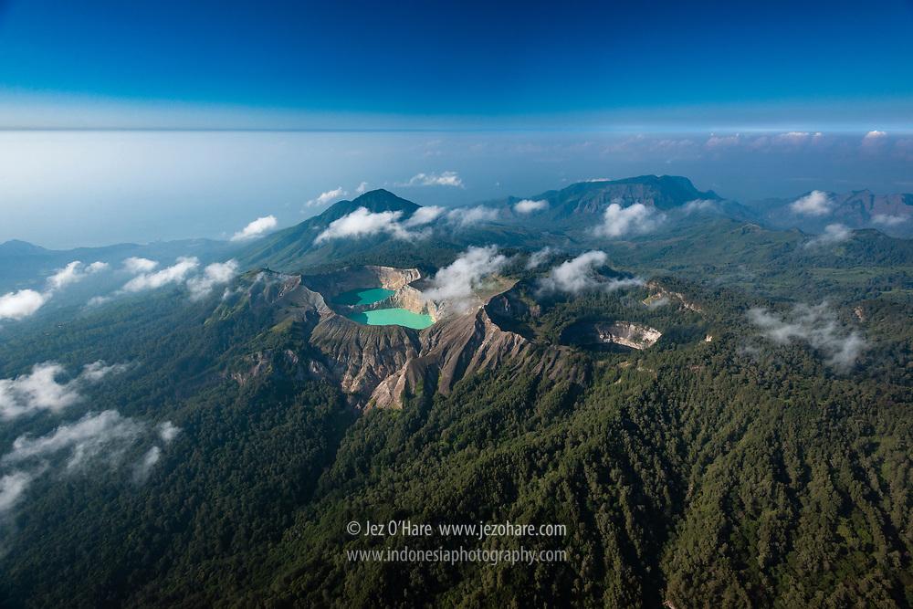 Kelimutu, Ende, Flores, Nusa Tenggara Timur, Indonesia.