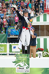 Charlotte Dujardin, (GBR) - Freestyle Grand Prix Dressage - Alltech FEI World Equestrian Games™ 2014 - Normandy, France.<br /> © Hippo Foto Team - Jon Stroud<br /> 25/06/14