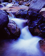 Small waterfall on the Left Fork of North Creek, Zion National Park, Utah.