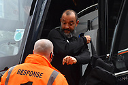 Wolverhampton Wanderers manager Nuno Espirito Santo gets of the team bus on arrival at Ashton Gate Stadium before the The FA Cup 5th round match between Bristol City and Wolverhampton Wanderers at Ashton Gate, Bristol, England on 17 February 2019.