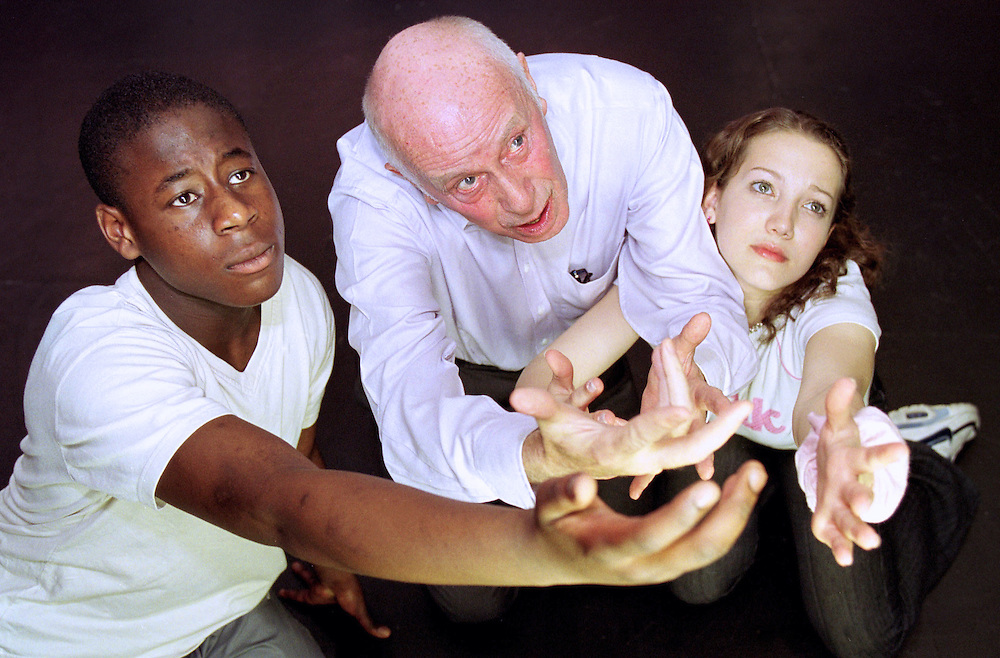 Richard Wilson with students auditioning for the gifted and talented summer school
