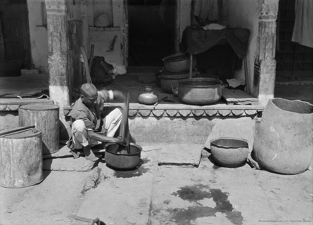 Dying Fabric, Udaipur, India, 1929