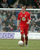 Photo: Kevin Poolman.<br />Luton Town v Blackburn Rovers. The FA Cup. 27/01/2007. Blackburn new signing Stephen Warnock.