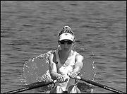 Sarasota. Florida USA., Friday,  01/10/2021, General View,  USA W1X, Felice MUELLER, moving away from the start pontoon,  with the he Wave before the Bow, The boot displaces the water as it retracts,2017 FISA World Rowing Championships, Nathan Benderson Park,<br /> [Mandatory Credit. Peter SPURRIER/Intersport Images].<br /> <br /> 00:00:00
