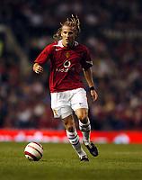 Diego Forlan<br />Manchester United 2004/05<br />Manchester United v PSV Eindhoven (1-0)<br />The Vodafone Cup 03/08/04<br />Photo Robin Parker Fotosports International