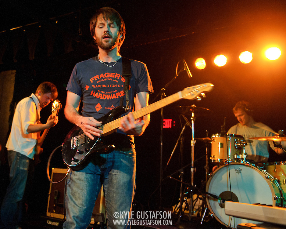WASHINGTON, D.C. - January 21st, 2011: The Dismemberment Plan perform at the Black Cat in Washington, D.C. The band reunited for short US tour in conjunction with the reissue of their seminal album, Emergency & I.  (Photo by Kyle Gustafson/For The Washington Post)