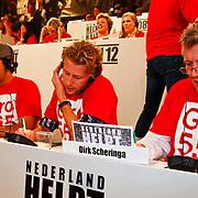NLD/Hilversum/20100121 - Benefietactie voor het door een aardbeving getroffen Haiti, Ewout Genemans en Dirk Scheringa