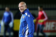 Stevanage Jason Goodliffe during the EFL Trophy group stage match between AFC Wimbledon and Stevenage at the Cherry Red Records Stadium, Kingston, England on 6 November 2018.
