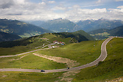 Landscape near the top of the Jaufenpass, the highest point at 2,094 metres on the road between Meran-merano and Sterzing-Vipiteno in South Tyrol, Italy.
