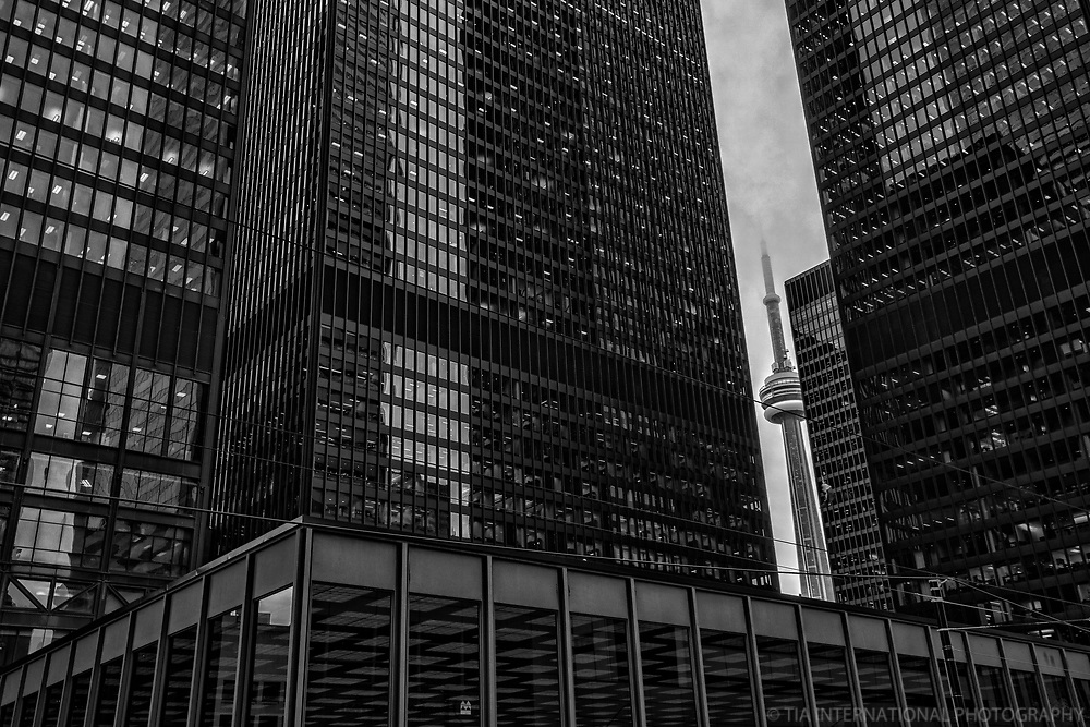 Toronto Dominion Centre & CN Tower,  Bay & King Streets