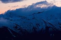 Sunset clouds and fresh snow. Western Tatras, Slovakia. June 2009. Mission: Ticha