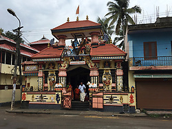 August 1, 2018 - Thiruvananthapuram, Kerala, India - Karakkamandapam Shiva Temple in the city of Thiruvananthapuram (Trivandrum), Kerala, India. This temple enshrines Lord Shiva as the presiding deity. Devotees believe that they can accomplish all their desires by worshipping Karakkamandapam Shiva. Karikamandapam Shiva Temple one of the well-known temples of the south Kerala and is famous for its rich history. (Credit Image: © Creative Touch Imaging Ltd/NurPhoto via ZUMA Press)