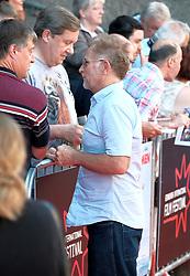 Edinburgh Film Festival, Sunday 1st July 2018<br /> <br /> SWIMMING WITH MEN (UK Premiere - Closing Night Gala)<br /> <br /> Pictured:  Jane Horrocks arrived with actor Danny Webb<br /> <br /> Alex Todd | Edinburgh Elite media