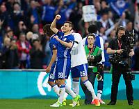 Chelsea's Cesar Azpilicueta celebrates his sides victory     <br /> <br /> <br /> Photographer Craig Mercer/CameraSport<br /> <br /> Emirates FA Cup Semi-Final - Chelsea v Tottenham Hotspur - Saturday 22nd April 2017 - Wembley Stadium - London<br />  <br /> World Copyright © 2017 CameraSport. All rights reserved. 43 Linden Ave. Countesthorpe. Leicester. England. LE8 5PG - Tel: +44 (0) 116 277 4147 - admin@camerasport.com - www.camerasport.com