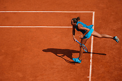 June 7, 2018 - Paris, U.S. - PARIS, FRANCE - JUN 07: MADISON KEYS (USA) during day twelve match of the 2018 French Open 2018 on June 7, 2018, at Stade Roland-Garros in Paris, France. (Photo by Chaz Niell/Icon Sportswire) (Credit Image: © Chaz Niell/Icon SMI via ZUMA Press)