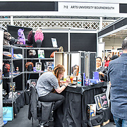 Arts University Bournemouth demo at IMATS London on 18 May 2019,  London, UK.