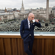 Mark Herrman from Molton Brown photographed in the  hotel The Trafalgar St James i London for the Danish magazine Dossier. Mark Herrman wears exclusively Hugo Boss, provided for by the magazine and Hugo Boss.