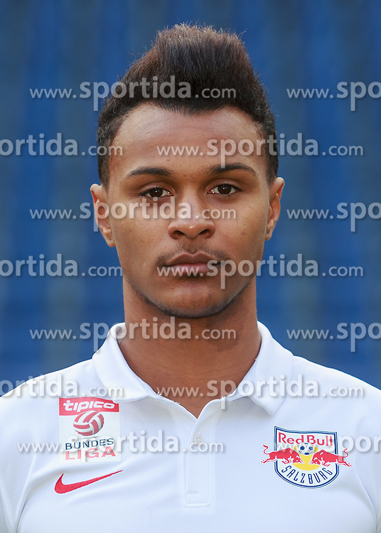 15.07.2015, Red Bull Arena, Salzburg, AUT, 1. FBL, FC Red Bull Salzburg, Fototermin, im Bild Valentino Lazaro (FC Red Bull Salzburg) // during the official Team and Portrait Photoshoot of Austrian Bundesliga Club FC Red Bull Salzburg at the Red Bull Arena in Salzburg, Austria on 2015/07/15. EXPA Pictures © 2015, PhotoCredit: EXPA/ JFK