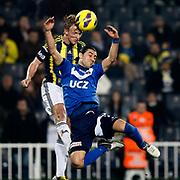 Fenerbahce's Dirk Kuijt (L) during their Turkish superleague soccer match Fenerbahce between Kasimpasa at the Sukru Saracaoglu stadium in Istanbul Turkey on Sunday 24 February 2013. Photo by TURKPIX