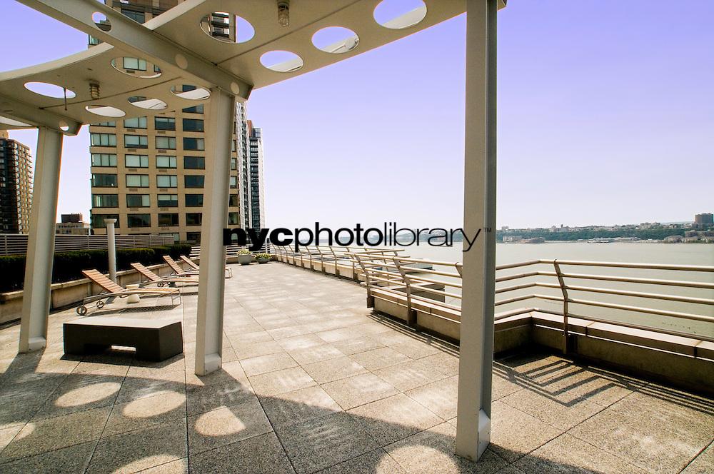 Roof Deck at 120 Riverside Boulevard