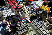 objects at a flea market with grating shadow projection