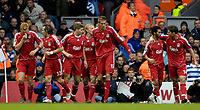 Photo: Jed Wee.<br />Liverpool v Reading. The Barclays Premiership. 04/11/2006.<br /><br />Liverpool celebrate their opening goal.