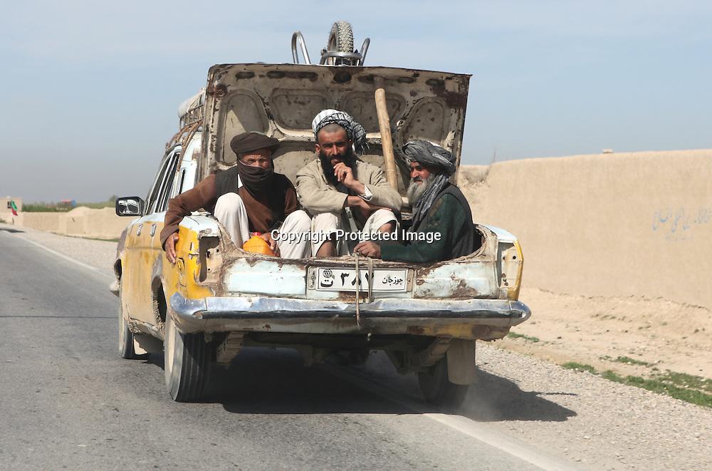 Traffic in Mazar-i-sharif, Afghanistan