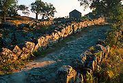 PORTUGAL, NORTH, MINHO AREA Citania de Briteiros, a Celtic Iron Age settlement, c300BC, with foundations of 150 round huts and paved streets
