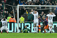 Football - 2018 / 2019 Emirates FA Cup - Quarter-Final: Swansea City vs. Manchester City<br /> <br /> Aguero's penalty hit the inside of the post before rebounding in off Nordfeldt for an own goal., at The Liberty Stadium.<br /> <br /> COLORSPORT/WINSTON BYNORTH