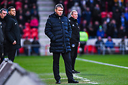 Grant McCann of Doncaster Rovers (Manager) looks on during the The FA Cup fourth round match between Doncaster Rovers and Oldham Athletic at the Keepmoat Stadium, Doncaster, England on 26 January 2019.