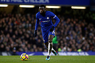 Tiemoue Bakayoko of Chelsea in action. Premier League match, Chelsea v Leicester City at Stamford Bridge in London on Saturday 13th January 2018.<br /> pic by Steffan Bowen, Andrew Orchard sports photography.