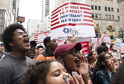 August 15, 2017 - New York, New York, U.S. - Protests at Trump Tower in New York City for second straight day. (Credit Image: © Michael Brochstein via ZUMA Wire)
