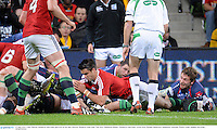 25 June 2013; Conor Murray, British & Irish Lions, goes over for his side's first try. British & Irish Lions Tour 2013, Melbourne Rebels v British & Irish Lions. AAMI Park, Olympic Boulevard, Melbourne, Australia. Picture credit: Stephen McCarthy / SPORTSFILE
