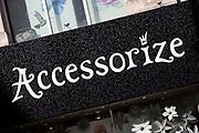 Sign for accessory shop Accessorize.