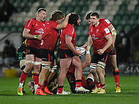 Rugby Union - 2020 / 2021 ER Challenge Cup - Quarter-final - Northampton Saints vs Ulster - Franklin Gardens<br /> <br /> Ulster Rugby's Tom O'Toole congratulated after turning over  there ball<br /> <br /> COLORSPORT/ASHLEY WESTERN