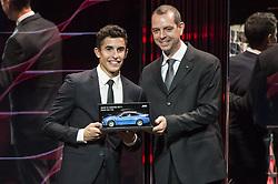 November 13, 2017 - Cheste, Spain - MotoGP Award Night Marc Marquez receive a BMW prize for best qualifyer (Credit Image: © Gaetano Piazzolla/Pacific Press via ZUMA Wire)