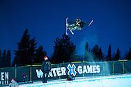 Unknown during Ski Superpipe Practice at 2014 X Games Aspen at Buttermilk Mountain in Aspen, CO. ©Brett Wilhelm/ESPN