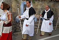 Italie. Sardaigne. Fete de la Madonne des Martyrs (Madonna dei Martiri) dans le village de Fonni. Province de Nuoro. //  Italy. Sardinia. Procession of the Madonne of Martyr on the village of Fonni.  Nuoro province.