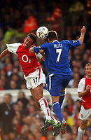 Edu (Arsenal) Adrian Mutu (Chelsea) Arsenal v Chelsea, Highbury, 18/10/2003, Premiership Football. Credit : Colorsport / Robin Hume. Digital File Only.