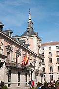 Spain, Madrid, Plaza de la Villa, town hall