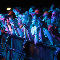 Fans watching the support while waiting for Miles Kane to perform live at Manchester Academy, Manchester, UK, 2013-09-28