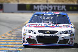 June 23, 2017 - Sonoma, CA, United States of America - June 23, 2017 - Sonoma, CA, USA: Chris Buescher (37) takes to the track to practice for the Toyota/Save Mart 350 at Sonoma Raceway in Sonoma, CA. (Credit Image: © Justin R. Noe Asp Inc/ASP via ZUMA Wire)