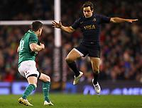 Rugby Union - 2017 Guinness Series (Autumn Internationals) - Ireland vs. Argentina<br /> <br /> Ireland's Johnny Sexton dummies Argentina's Nicolas Sanchez, at the Aviva Stadium.<br /> <br /> COLORSPORT/KEN SUTTON