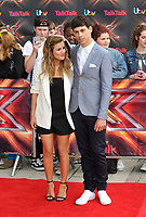 Caroline Flack and Matt Richardson arrive for the London auditions of 'The X Factor' at ExCel on June 19, 2013 in London, England pictures Brian Jordan/Retna pictures