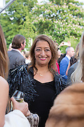 ZAHA HADID , The Serpentine Summer Party 2013 hosted by Julia Peyton-Jones and L'Wren Scott.  Pavion designed by Japanese architect Sou Fujimoto. Serpentine Gallery. 26 June 2013. ,